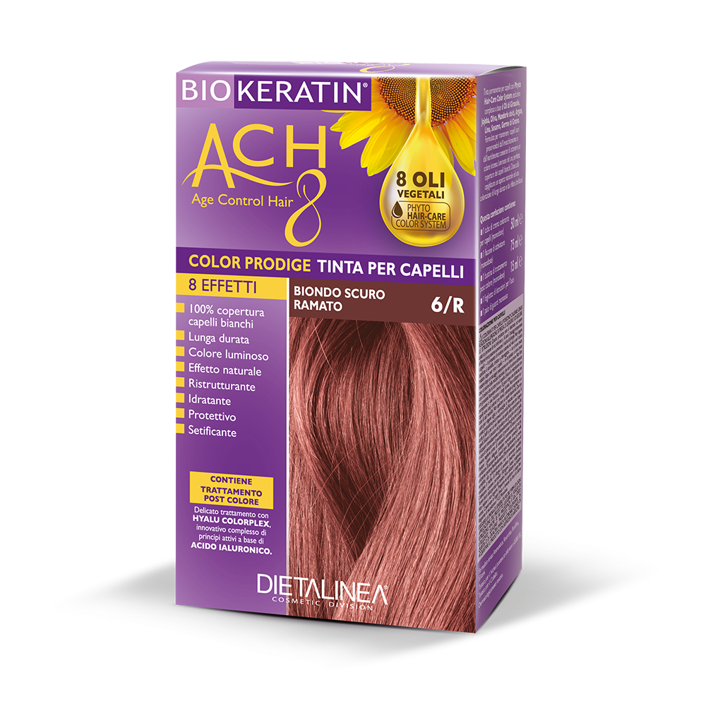 Tinta per capelli 6/R Biondo Scuro Ramato Colorazione Capelli Dietalinea