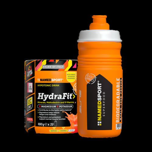 Hydrafit Orange 400 gr + Borraccia Integratori per lo sport Named Sport