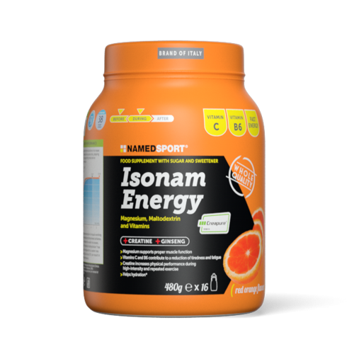 Isonam Energy Orange 480 g Integratori per lo sport Named Sport