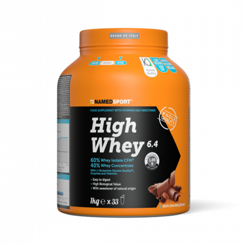 High Whey 6.4 Dark Chocolate 1Kg Integratori per lo sport Named Sport