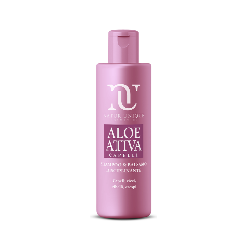 Shampoo e Balsamo Disciplinante Aloe Attiva Shampoo Natur Unique