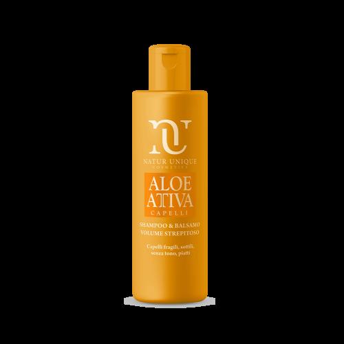 Shampoo e Balsamo Volume Strepitoso Aloe Attiva Shampoo Natur Unique