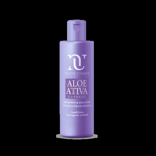 Shampoo e Balsamo Intensa Delicatezza Aloe Attiva Shampoo Natur Unique