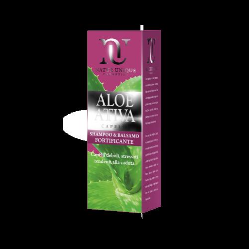 Shampoo e Balsamo Fortificante Aloe Attiva Shampoo Natur Unique
