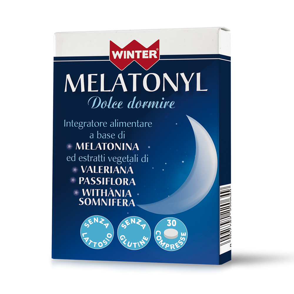 Melatonyl Dolce Dormire 30 cpr Rilassamento e riposo notturno Winter