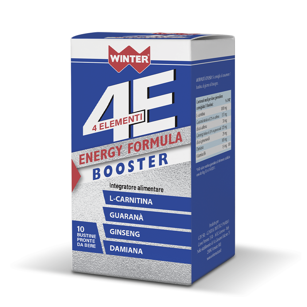 4 Elementi Energy 10 Booster Tonici e recupero fisico Winter