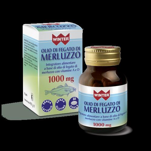 Olio di Fegato di Merluzzo 1000 mg Metabolismo dei carboidrati Winter
