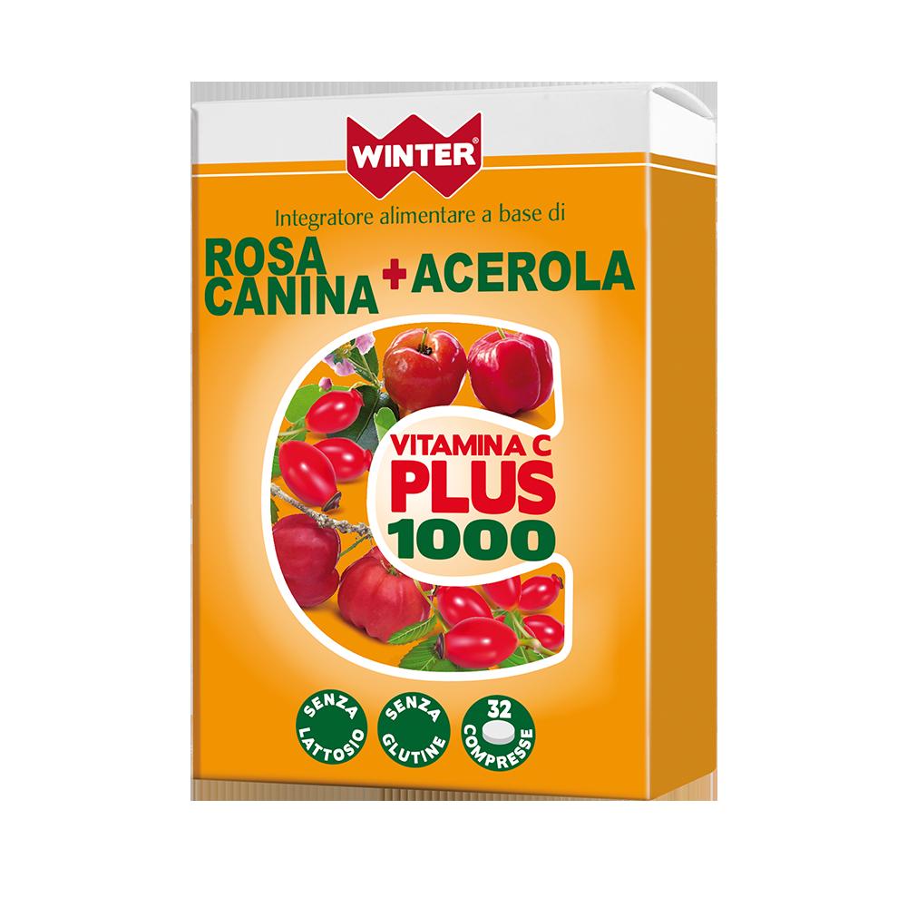 Vitamina C Plus 1000 Rosa Canina + Acerola Multivitaminici e Minerali Winter