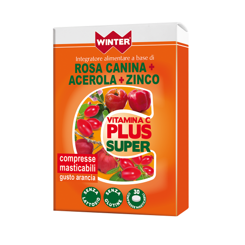 Vitamina C Plus Super Rosa Canina + Acerola + Zinco Multivitaminici e Minerali Winter