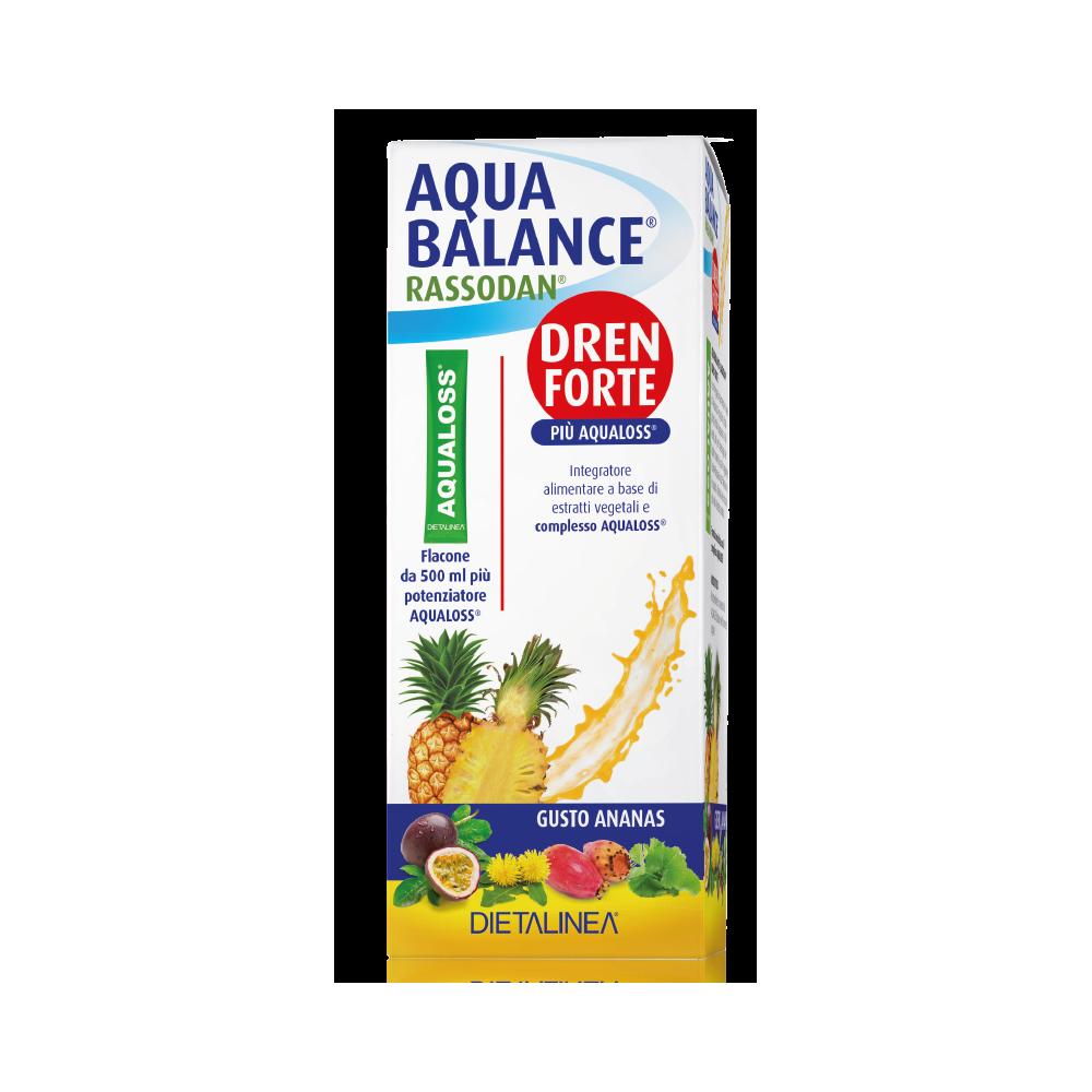 Aqua Balance Rassodan Dren Forte Ananas 500 ml Drenaggio liquidi corporei Dietalinea
